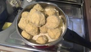 塩切り麹と潰した大豆