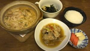 キムチ鍋と大家さんの手羽元煮ラスト