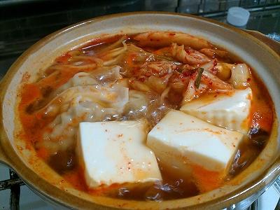 キムチ鍋初日